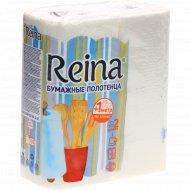 Бумажные полотенца «Reina» 2 рулона.