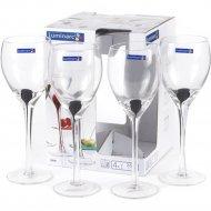 Набор бокалов для вина «Luminarc» Drip black, 4 шт, 350 мл