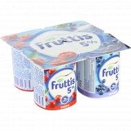 Продукт йогуртный «Fruttis» вишня-черника 5 %, 115 г.