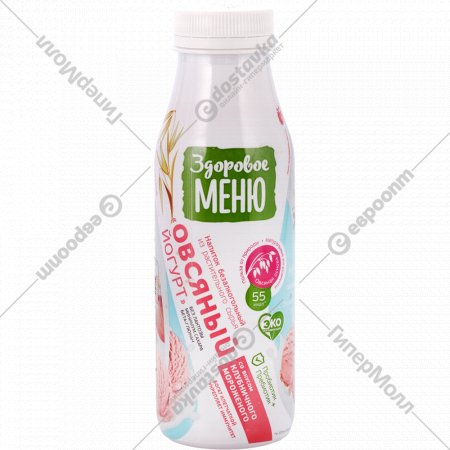 Напиток овсяный «Здоровое меню» клубничное мороженое, 1.3%, 330 мл.