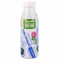 Йогурт овсяный «Здоровое меню» с черникой, 1.3%, 330 мл.