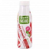 Йогурт овсяный «Здоровое меню» с красной смородиной, 1.3%, 330 мл.