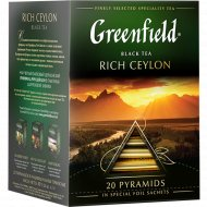 Чай «Greenfield» Rich Ceylon, 20 пакетиков.