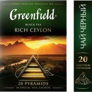 Чай «Greenfield» Rich Ceylon, 20 пакетиков.