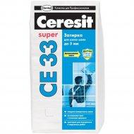 Фуга «Ceresit» СЕ 33, серебристо-серая, 2 кг
