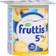 Продукт йогуртный «Fruttis» ананас-дыня, персик-маракуйя 5 %, 115 г.
