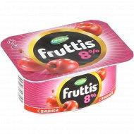 Продукт йогуртный «Fruttis» персик и маракуйя + вишня 8%, 115 г.