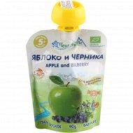 Пюре детское «Fleur Alpine» яблоко-черника, 90 г.