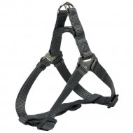 Шлея для собак «Premium One Touch harness» р.S, графит.