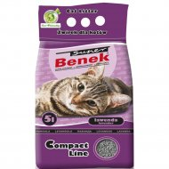 Наполнитель для туалета «Super Benek» компакт лаванда, 5 л.
