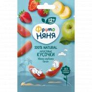 Фруктовые кусочки «Фруто Няня» яблоко, клубника, банан, 15 г