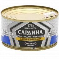 Сардина «Невод» натуральная, с добавлением масла, 175 г.