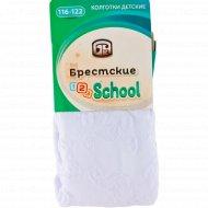 Колготки детские «Брестские» белые, размер 116-122.