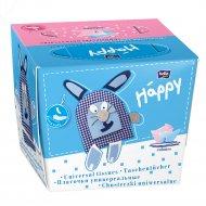Платочки «Bella baby» Happy» заяц (в ассортименте) 40+40 шт.