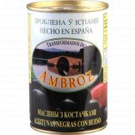Маслины чёрные «Transformados del Ambroz» с косточками, 300 г.