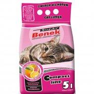 Наполнитель для туалета «Super Benek» компакт цитрусовая свежесть, 5 л.
