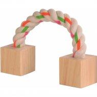 Игрушка «Trixie» для грызунов из дерева и веревки, 20 см.