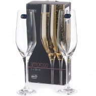Набор бокалов для шампанского «Bohemia Crystal» Amoroso, 200 мл