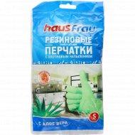 Перчатки «Haus Frau» с ароматом алоэ вера, размер S, 1 пара.