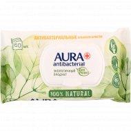 Антибактериальные влажные салфетки «Aura» 60 шт