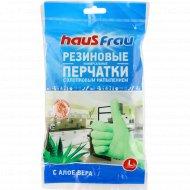 Перчатки «Haus Frau» с ароматом алоэ вера, размер L, 1 пара.