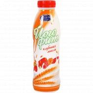 Йогурт питьевой «Молочный мир» клубника-мюсли, 2%, 450 г