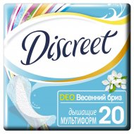 Женские гигиенические прокладки «Discreet» весенний бриз 20 шт.