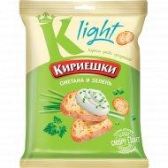 Сухарики «Кириешки Light» сметана и зелень 80 г.