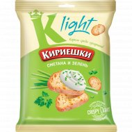 Сухарики хрустящие «Кириешки Light» со вкусом сметаны с зеленью, 80 г.