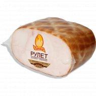 Продукт из цыплят-бройлеров «Рулет ароматный» копчено-вареный, 1 кг., фасовка 0.3-0.5 кг