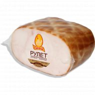 Продукт из цыплят-бройлеров «Рулет ароматный» копчено-вареный, 1 кг., фасовка 0.35-0.6 кг