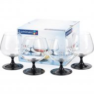 Набор бокалов для коньяка стеклянных «Domino» 410 мл, 4шт.
