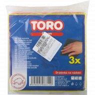 Набор мочалок для мытья посуды «Toro» 15х15 см, 3 шт.