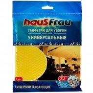 Салфетка для уборки «Haus Frau» универсальная вискоза, 34х38 см, 5 шт.