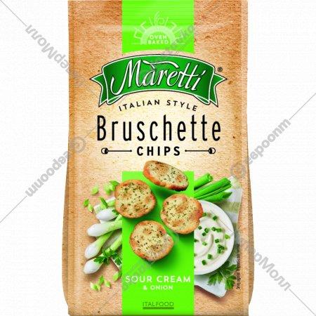 Печеные хлебные ломтики «Bruschette» сметана и лук, 70 г.