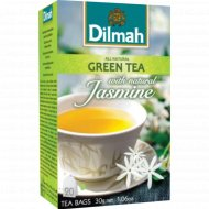 Чай зеленый «Dilmah» с лепестками жасмина, 20 пакетиков, 30 г.