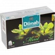 Чай черный «Dilmah» Mint с ароматом мяты, 30 г.