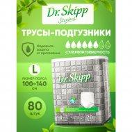 Трусы-подгузники «Dr.Skipp» Standard, для взрослых, L-3, 80 шт