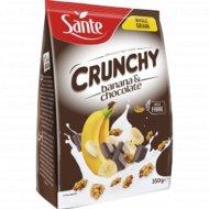 Овсяные хлопья «Crunchy» с бананом и шоколадом, 350 г.