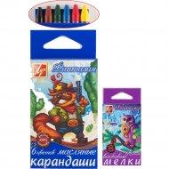 Мелки-карандаши масляные «Фантазия» 6 цветов.
