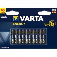 Элемент питания алкалиновый «Varta Energy» AAA VP 10.
