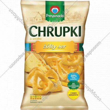 Снэки кукурузные «Chrupki» со вкусом сыра, 150 г.