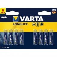 Элемент питания алкалиновый «Varta Longlife» AAA DB 8.