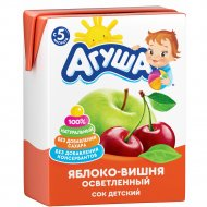 Сок «Агуша» яблоко-вишня, 200 мл.
