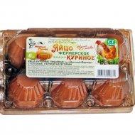 Яйца куриные «Местный фермер» С1, 6 шт