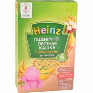 Каша пшенично-овсяная безмолочная «Heinz» с фруктиками 200 г.