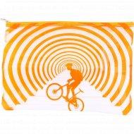 Папка прозрачная «Helios» А4, с рисунком велосипед.