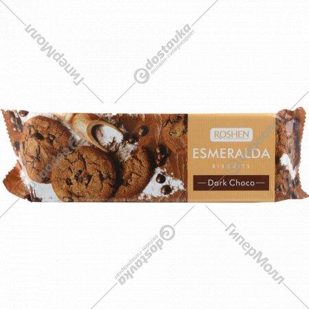 Печенье сдобное «Эсмеральда» с какао и кусочками глазури, 150 г.