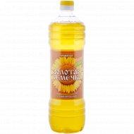 Масло подсолнечное «Золотая семечка» нерафинированное, 1 л.
