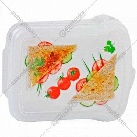 Контейнер для бутербродов с декором.